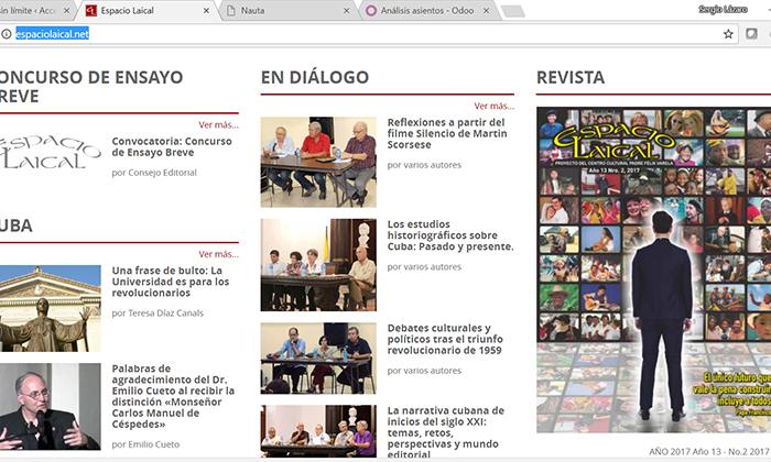 Diseño, desarrollo y soporte del sitio web de la Revista Espacio Laical, un proyecto del Centro Cultural Padre Félix Varela de La Habana