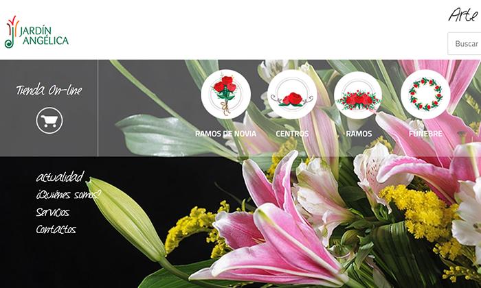 Soporte comunicacional y técnico (incluye diseño y programación) para la Web y las Redes Sociales de la Floristería Jardín Angélica